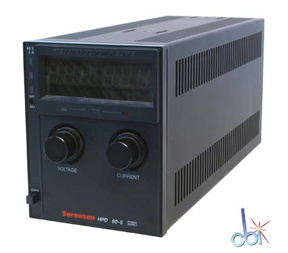 SORENSEN DC POWER SUPPLY 60V, 5A